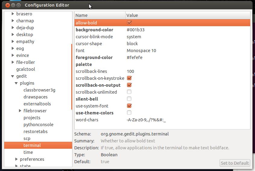 Skärmdump av dconf-editor